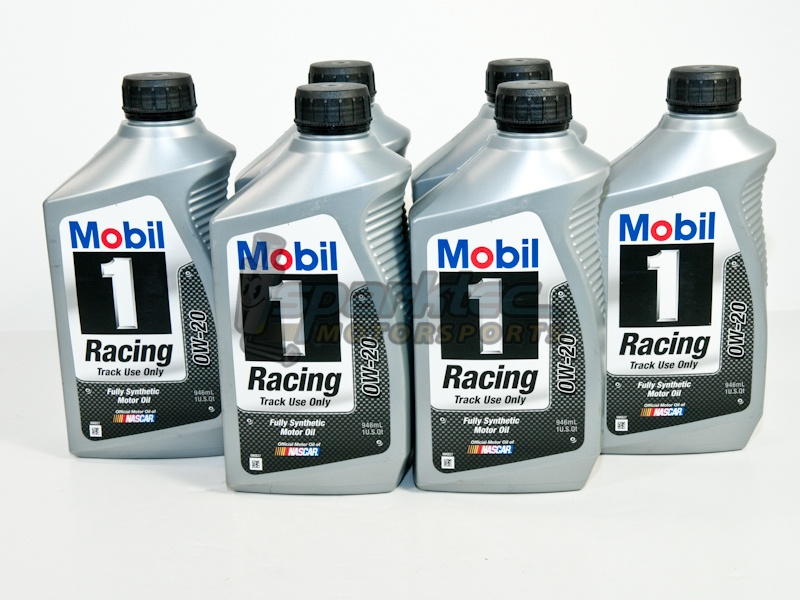 Mobil 1 racing 0w 20 fully synthetic engine motor oil 6 1 for Racing motor oil comparison