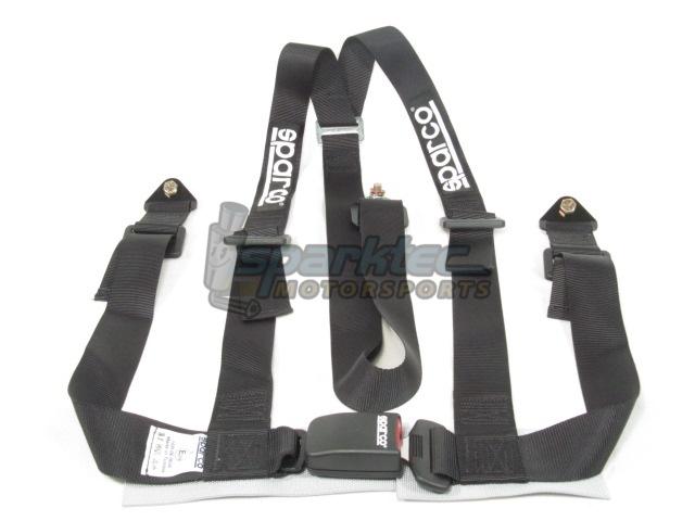 Sparco 04608BVNR Black 2 3 Part Belt
