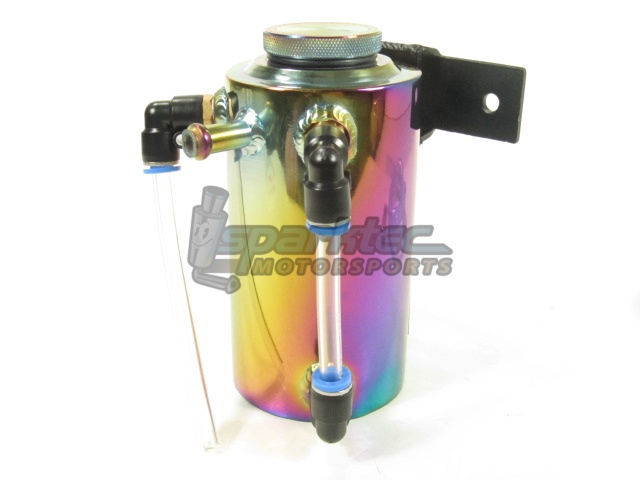 Weapon-R Coolant Overflow Catch Tank Reservoir Can 18 Oz Neo Ti Chrome Universal